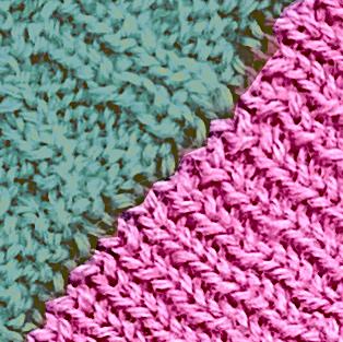 Pink - Sea green