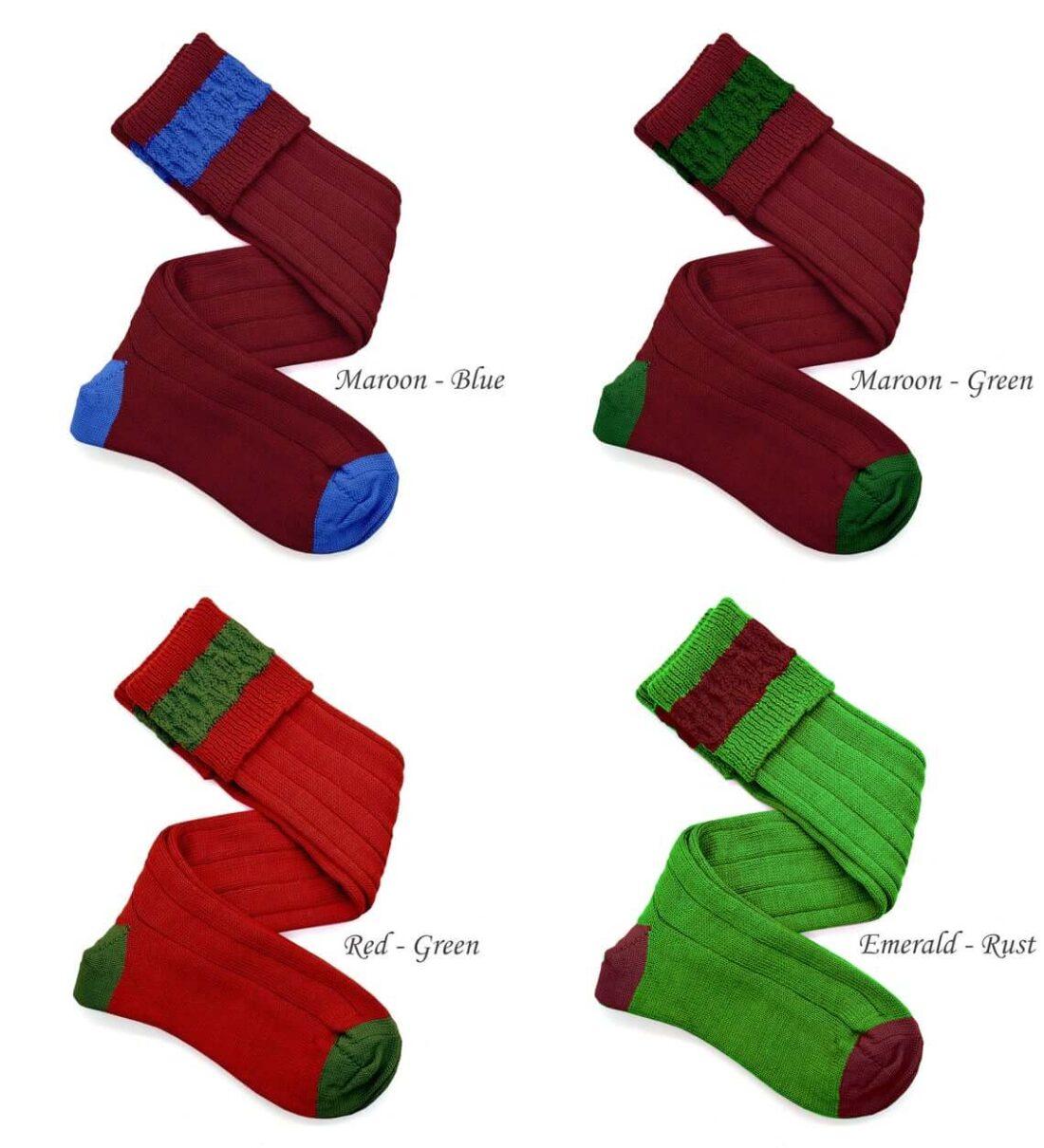 Wool contrast shooting socks