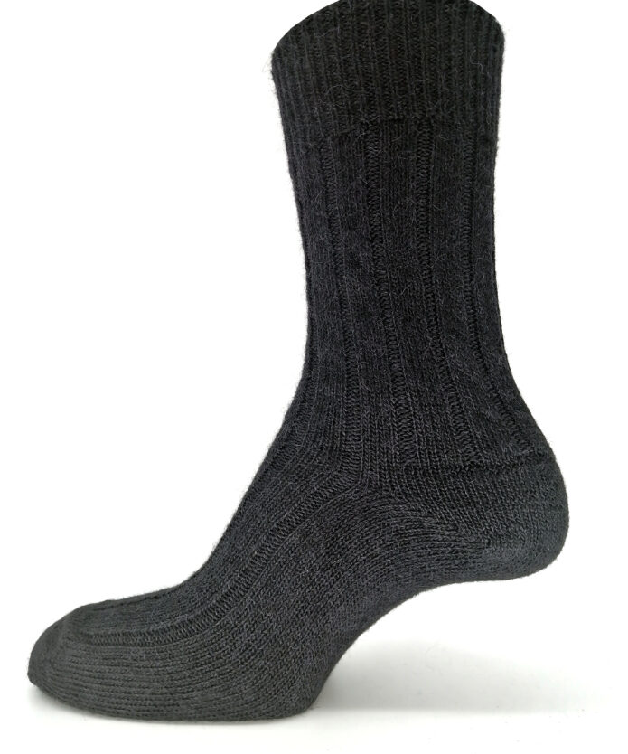 Black alpaca bed socks