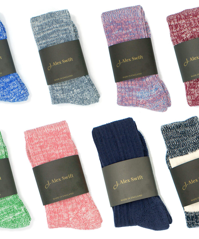 Cushioned sole cotton socks
