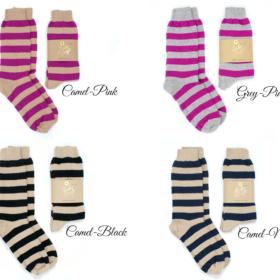 cashmere merino wool boot socks