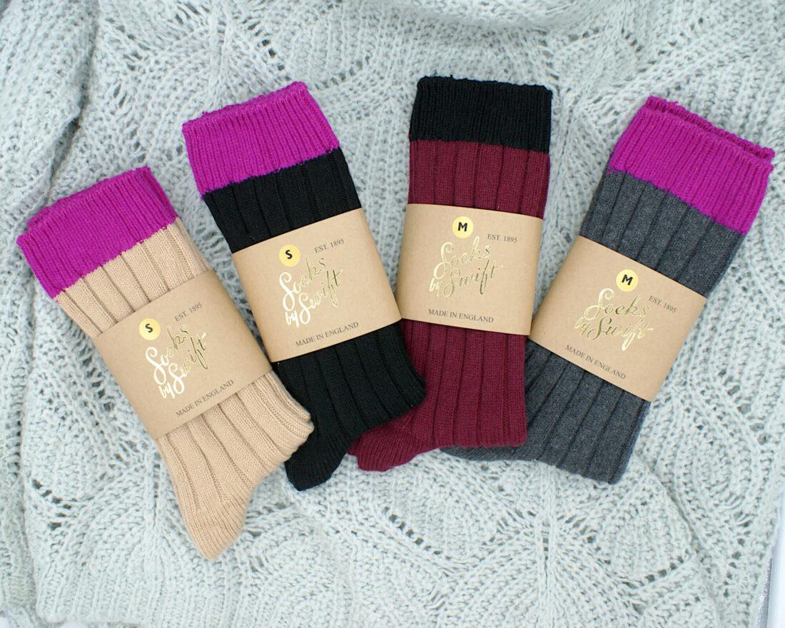 Cashmere bed socks